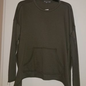 Olive pullover top